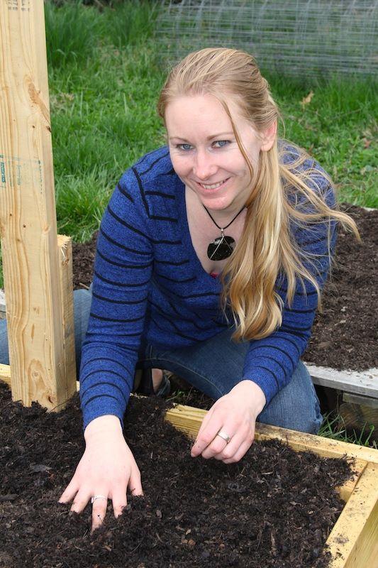 Liz Gardening